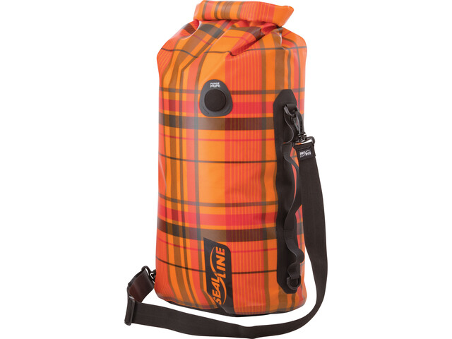 SealLine Discovery Dry Bag 30l orange plaid